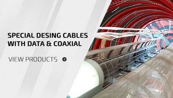 Special Desing Cables With Data & Coaxial