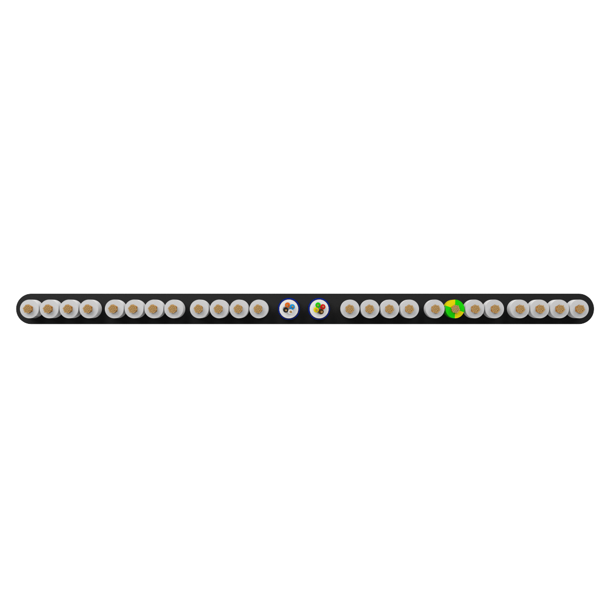 24x0.75 +2Px(4x0.22) mm² H05VVH6-F Foiled Elevator Cable
