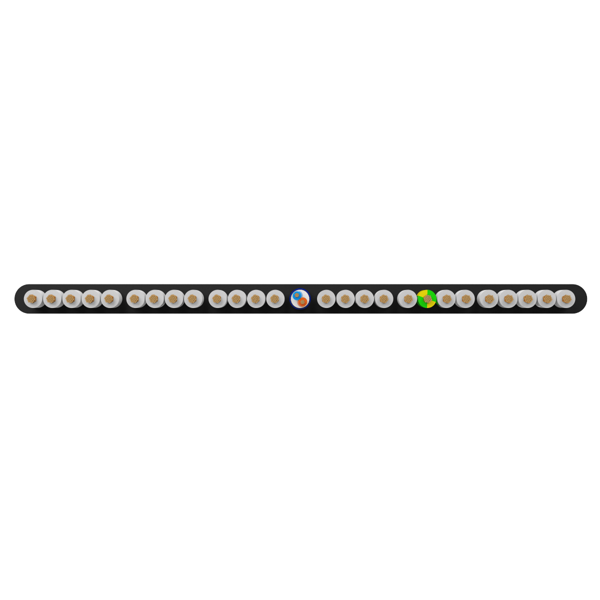 26x0.75 +1Px(2x0.22) mm² H05VVH6-F Foiled Elevator Cable