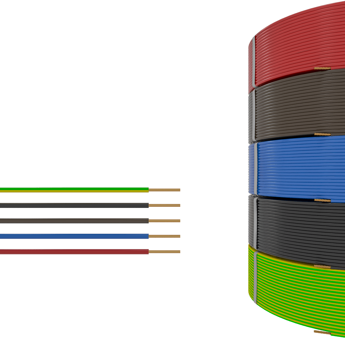 1 mm² Insulated Cables